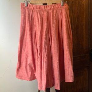 Lularoe Pink Heathered Madison Box Pleat Skirt